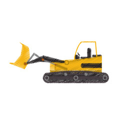 Yellow backhoe icon image vector