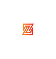 z line geometry logo vector image