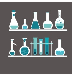 chemical test tube vector image vector image