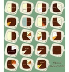 coffee drinks vector image vector image