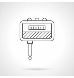 Guitar headphone amp flat line icon vector