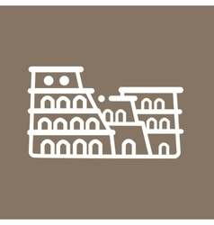 Rome colosseum Italy building ancient line art vector image