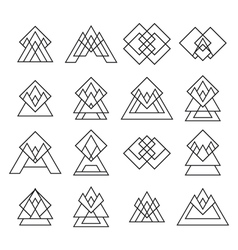 Set of trendy geometric shapes Geometric icons vector image vector image