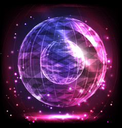 the sphere consisting of triangles and lines vector image vector image