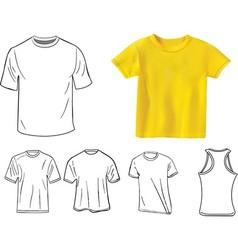 camisetas vector image