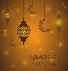 Creative Lantern of Ramadan Kareem Background vector image