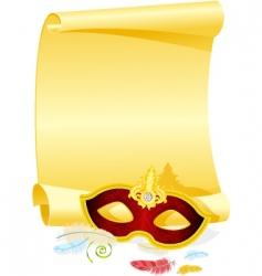 masquerade invitation vector image vector image