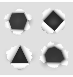 Paper sheet with holes vector image