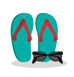 sandals sunglasses beach vacation vector image