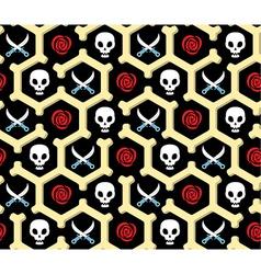 Seamless bandit theme pattern vector image