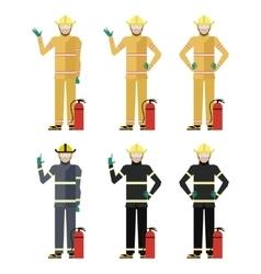 Set of Firemen vector image
