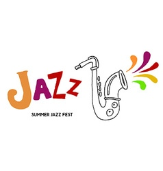 Summer Jazz Festival vector image vector image