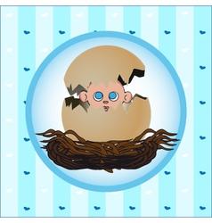birth card boy vector image