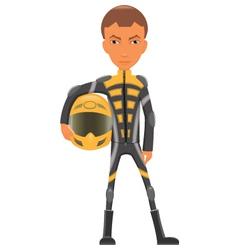 Cartoon sport bike rider vector image vector image