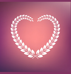 heart shape wreath vector image