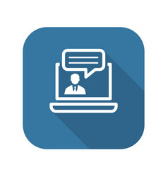 Online consulting icon business concept vector