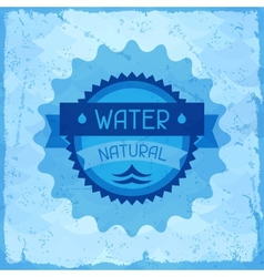 Water natural background in retro style vector image vector image