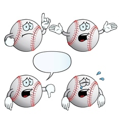 Crying baseball set vector image