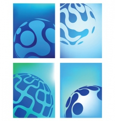 globe business backgrounds vector image vector image