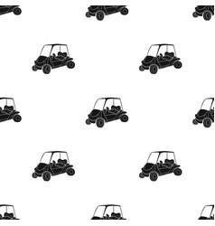 Golf cart icon in black style isolated on white vector