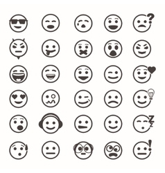 Great set of icons with smiley faces vector image vector image