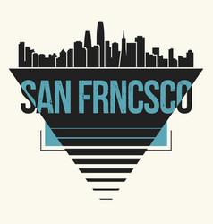 san francisco graphic t-shirt design tee print vector image vector image