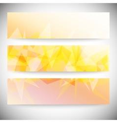 Set of horizontal banners Light orange polygonal vector image