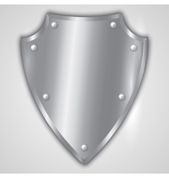 abstract of stainless steel shield vector image