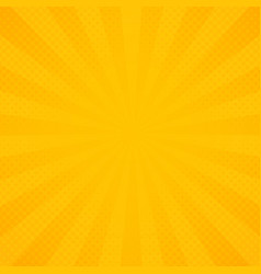 abstract sun of yellow and orange radiance rays vector image