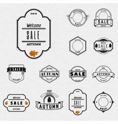 Autumn sale badges logos and labels for any use vector image