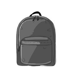 Backpack mockup sketch for your design vector