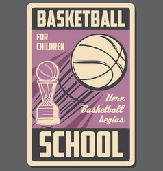 basketball sport school team game cup vector image