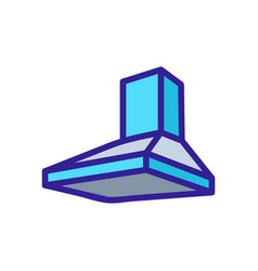 Built-in pyramidal overall hood icon vector