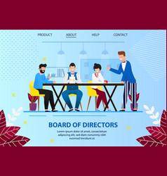 Business board meeting directors in office vector