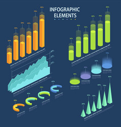 business elements of infographic a set of vector image