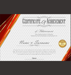 Certificate or diploma retro vintage template 5 vector