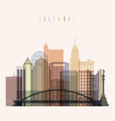 Columbus skyline vector