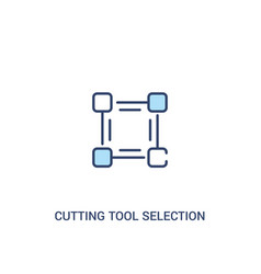 Cutting tool selection concept 2 colored icon vector