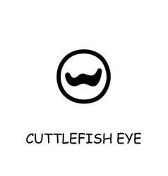 Cuttlefish eye flat icon vector