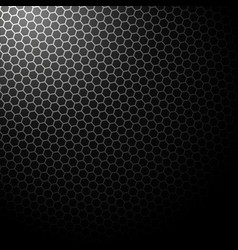 dark background with hexagons background vector image