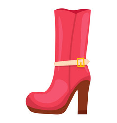 Demi boot or winter footwear for woman on white vector