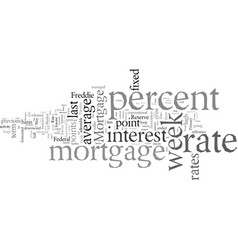 Dramatic turn in mortgage rates vector