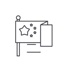 eu flag line icon concept eu flag linear vector image