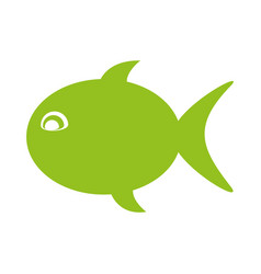 Fish silhouette isolated icon vector