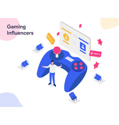 gaming influencers isometric modern flat design vector image