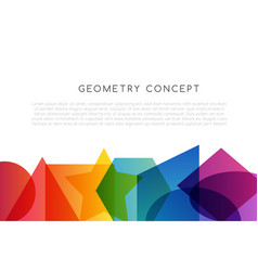 Geometrical colorful decoration school conceptual vector