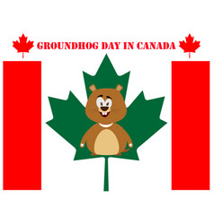 Groundhog day in canada vector