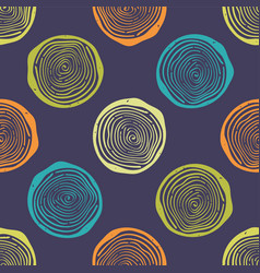 grunge seamless pattern with tree rings modern vector image