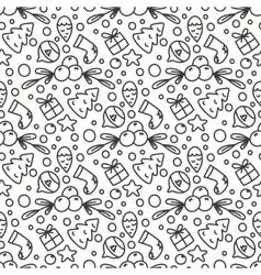 Hand Drawn Winter Season Seamless Pattern vector image
