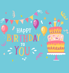 happy birthday to you vector image
